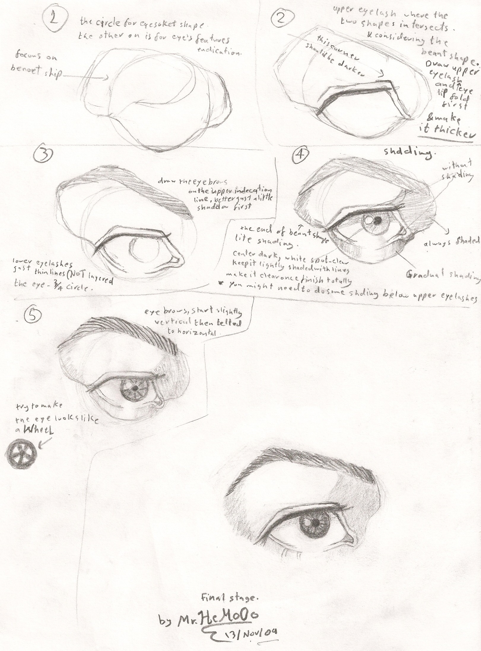 1621x2192 Eye Drawing Guide By Mr Hemo0o