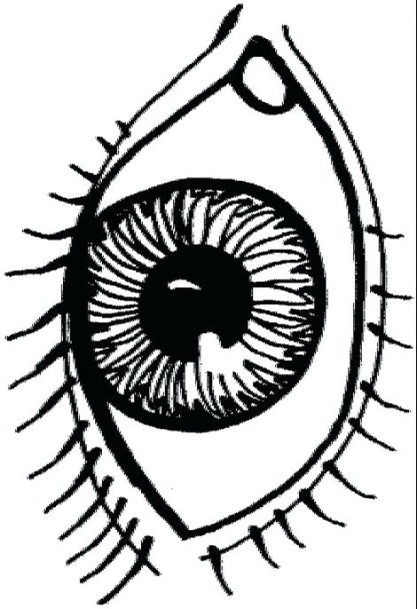 470x687 Eyeball Coloring Pages Eye Coloring Page With Plain Decoration Eye