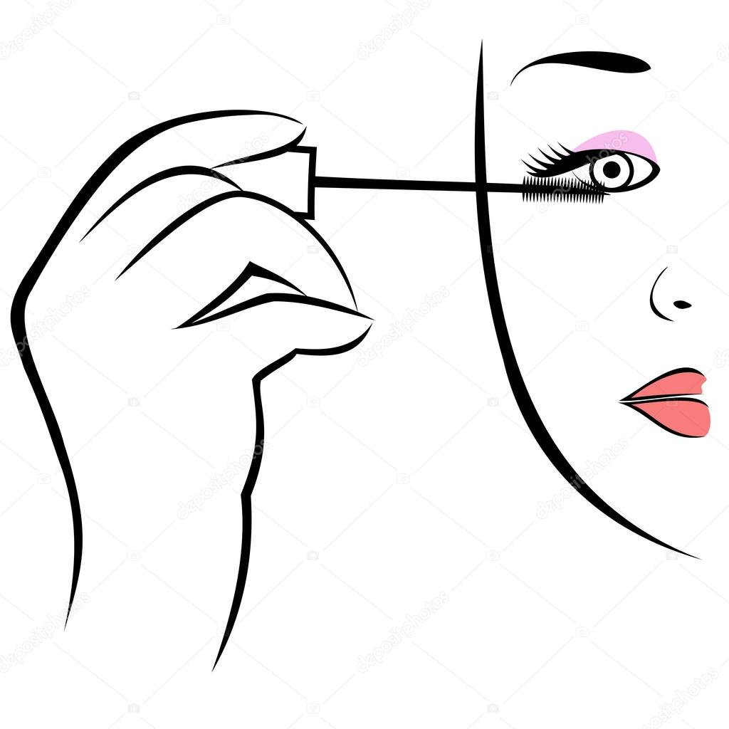 1024x1024 Eye Makeup Symbol. Stock Vector Fxm73
