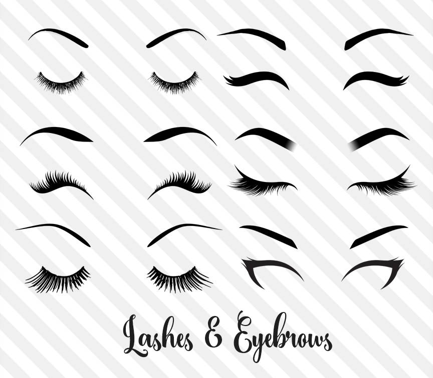 864x756 Lashes And Eyebrows Clipart Princess Eye Makeup Eye Vector