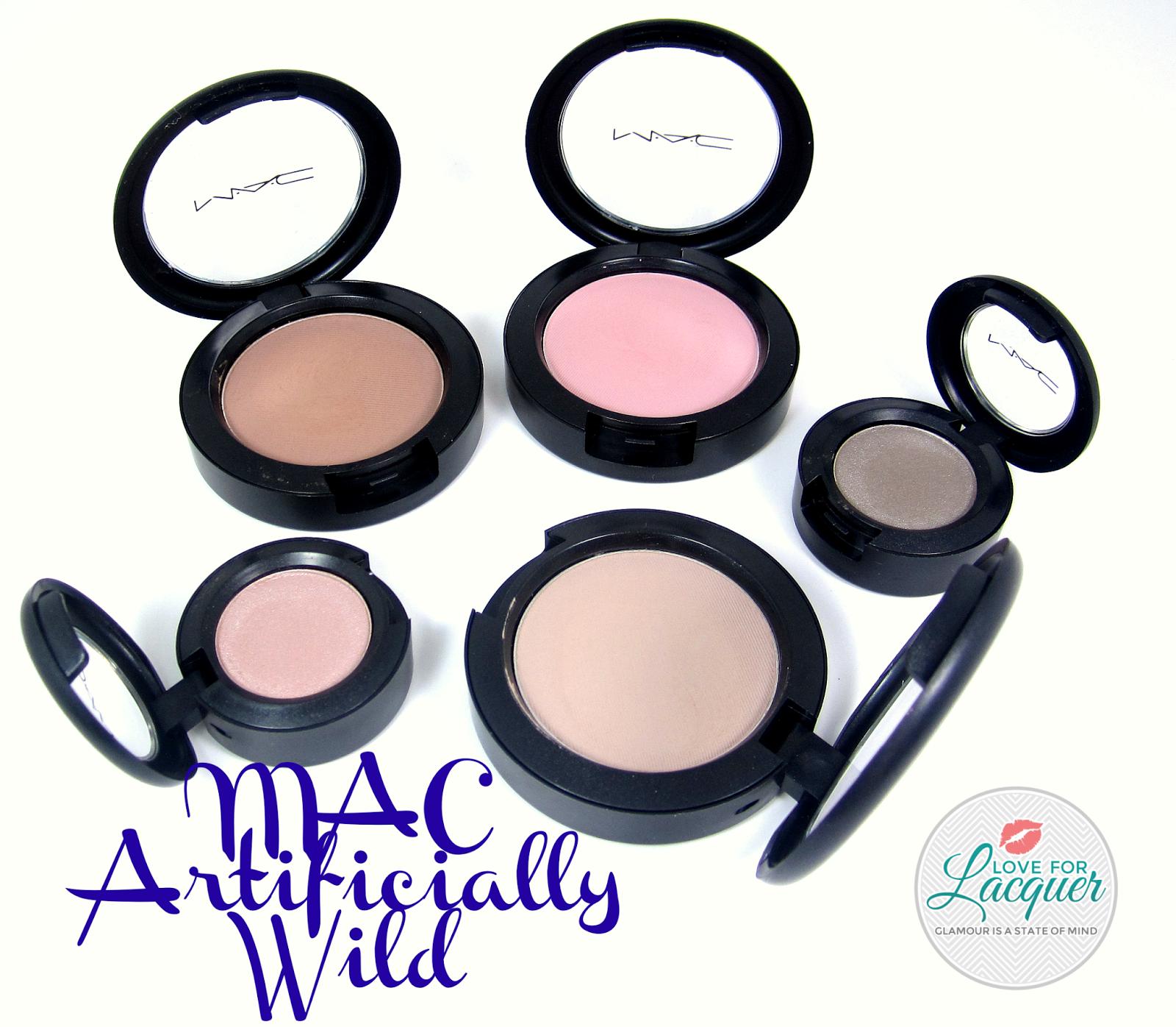 1600x1396 Mac Artificially Wild Collection Blushes Amp Eyeshadows