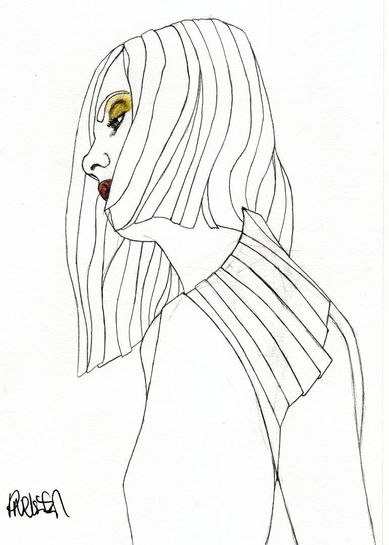 770x1078 Saatchi Art Artist Paul Nelson Esch Drawing, Eyeshadow