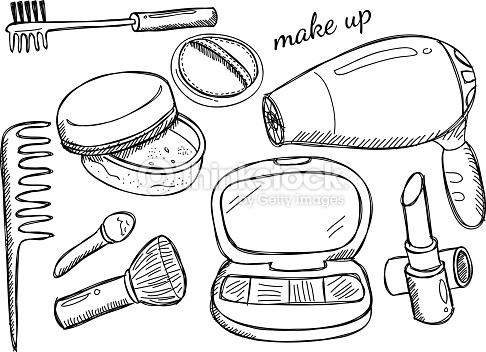 486x352 Eyeshadow Palette Drawing