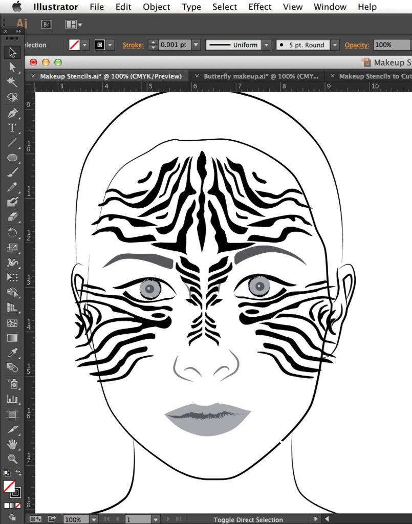 805x1024 Diy Makeup Stencils 6 Steps (With Pictures)