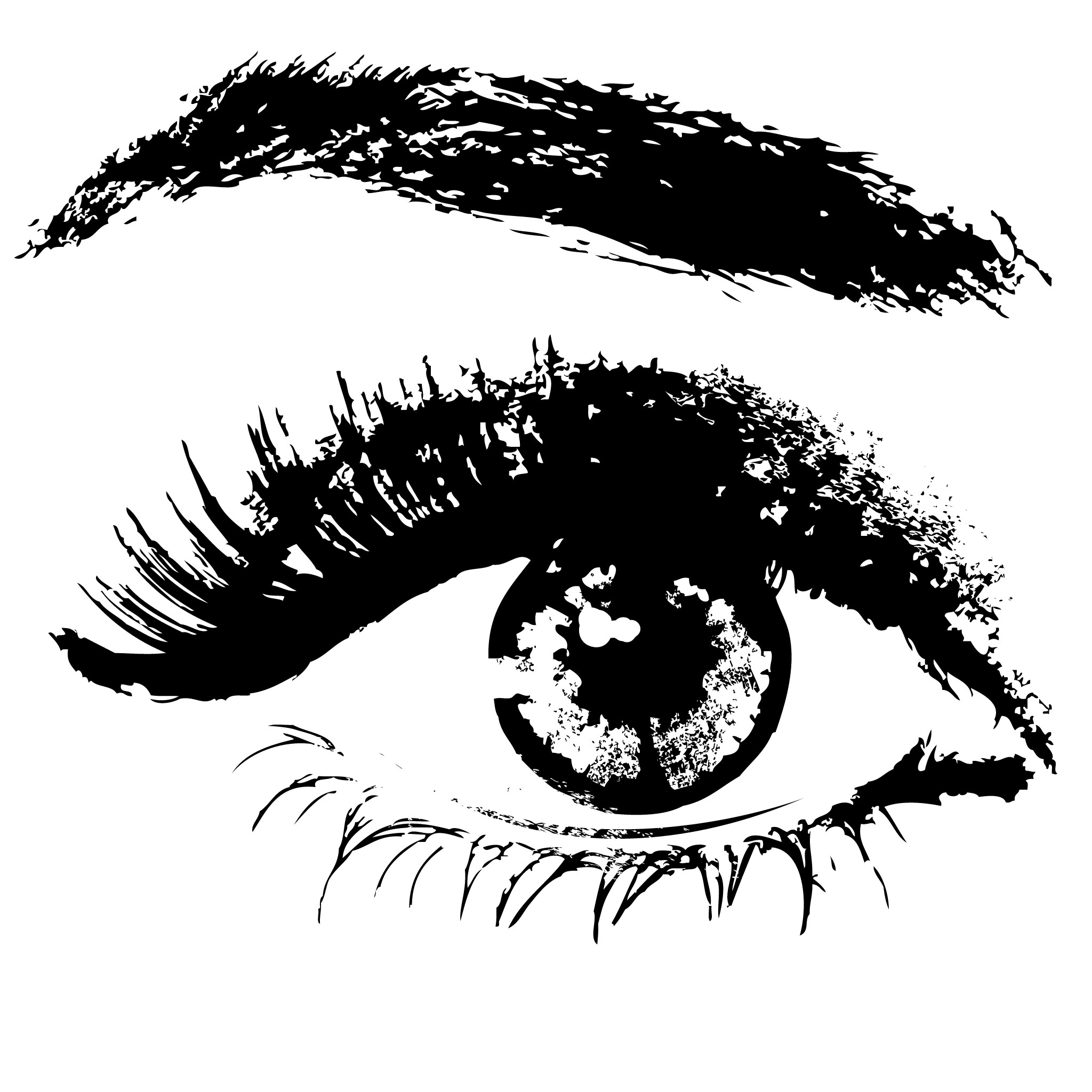 2048x2048 Blackandwhite Scanography Pretty Eye
