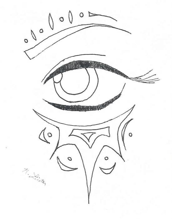 551x700 Collection Of Knee Eye Ball Tattoo N With Drawing