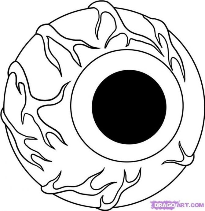 671x690 Coloring Pages Impressive Eyeball Coloring Page Human Eye Pages