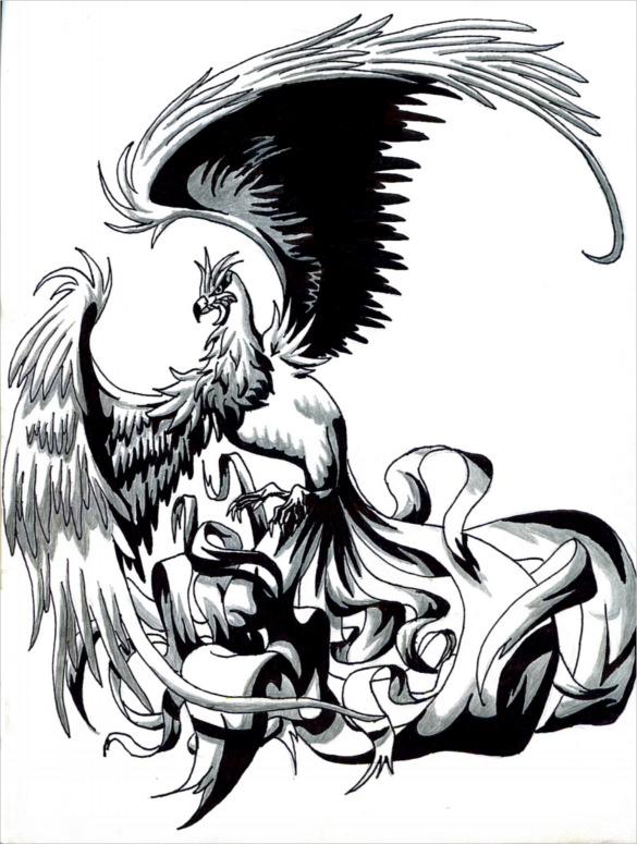585x775 Mind Blowing Phoenix Bird Art Drawings Free Amp Premium Templates
