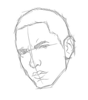 300x338 Graphic Content How To Draw Eminem In 8 Easy Steps By Myspace