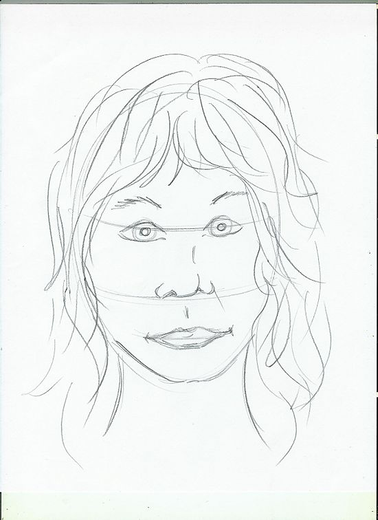 550x756 Pencil Sketches And Drawings How To Draw The Face Of A Person