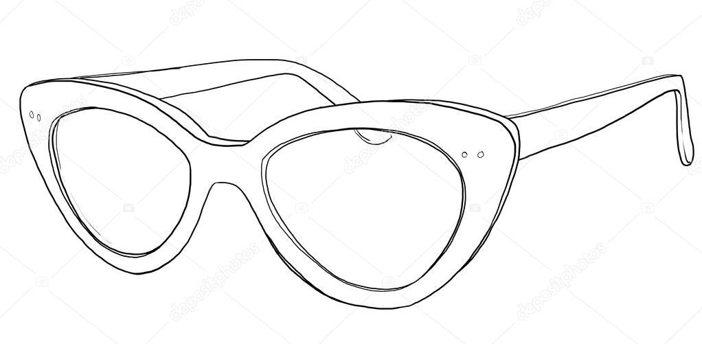 1022x501 Cat Eye Glasses Sunglasses Line Art Stock Photo Gmm2000
