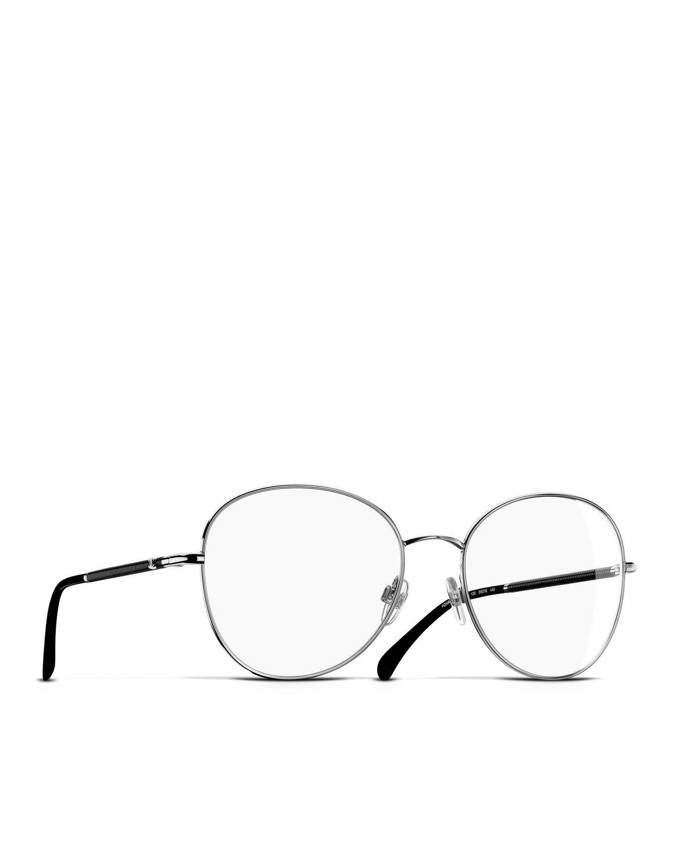 1354x1728 Round Eyeglasses, Metal Silver