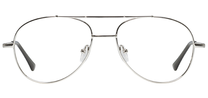 669x318 Silver Prescription Eyeglasses