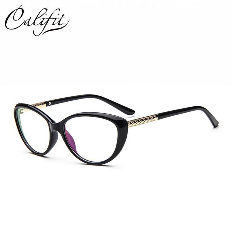 800x800 Califit Retro Cat Eye Glasses Women Frame Luxury Design Eyeglasses