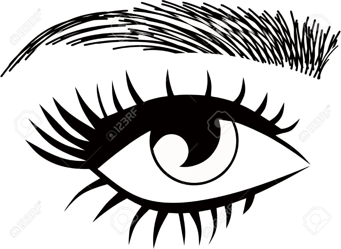 1300x949 Eyelash Extensions, Eyebrows Threading, Eyes Open Closed Royalty