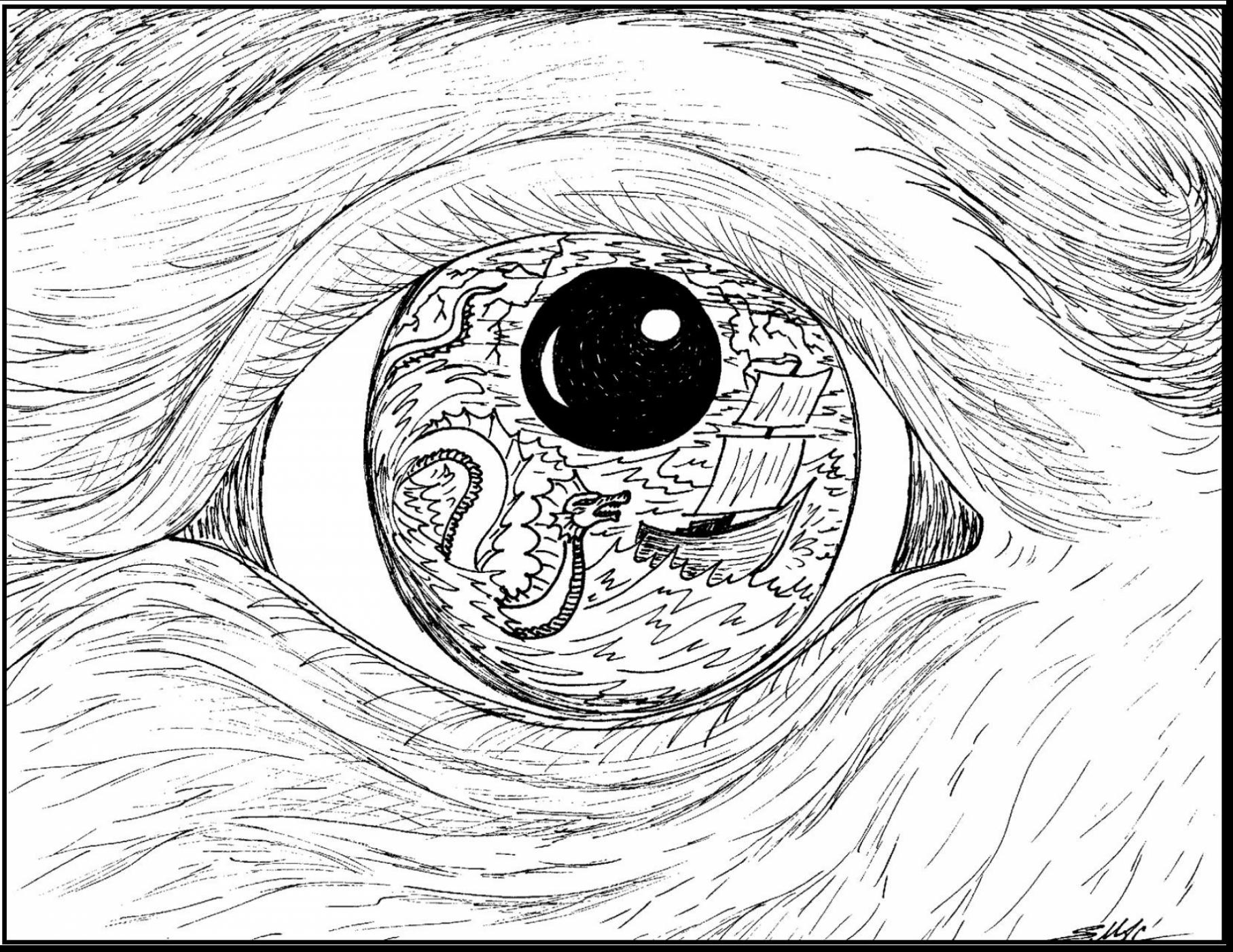 1815x1402 Eye Coloring Page