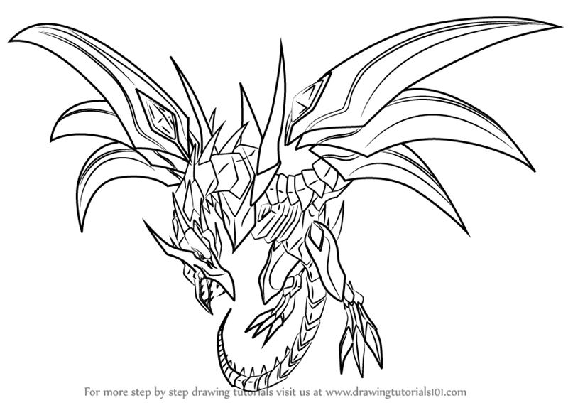 800x567 Learn How To Draw Red Eyes Black Dragon From Yu Gi Oh! Official