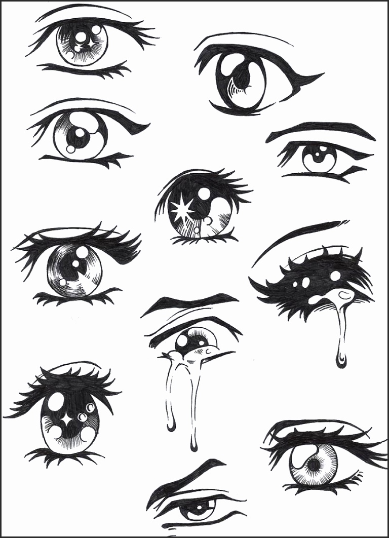 Eyes Cartoon Drawing