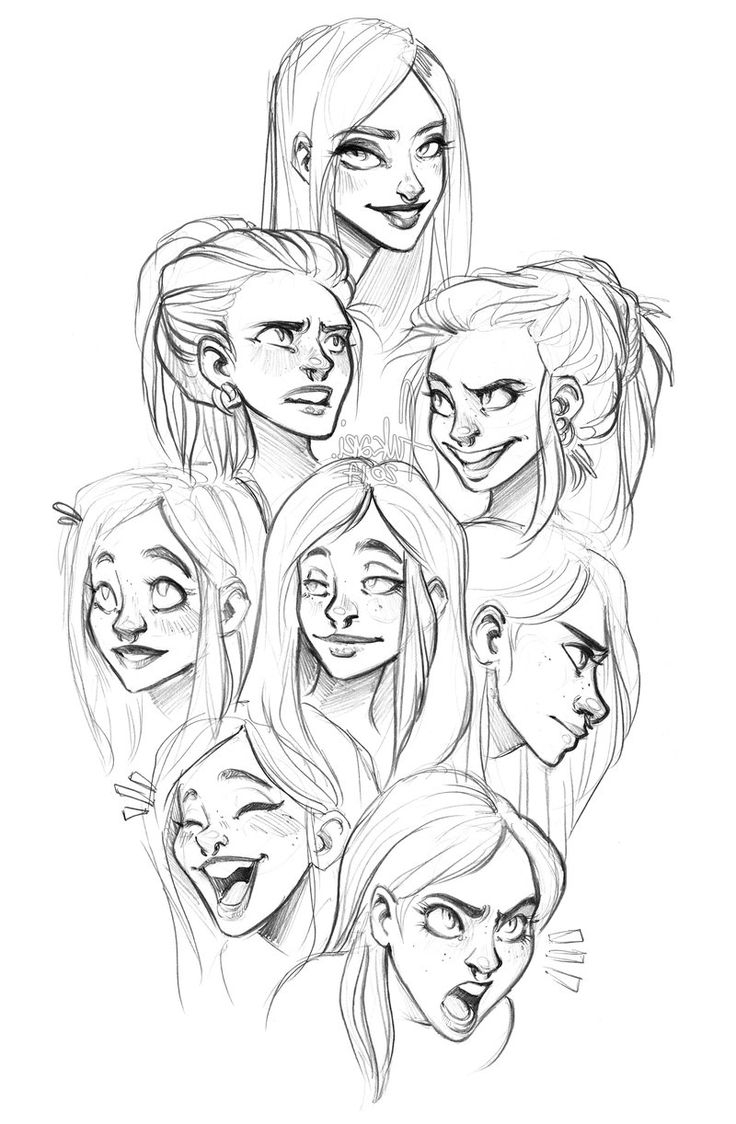 736x1124 Drawing Cute Adult Girl Face Best Cartoon Faces Ideas