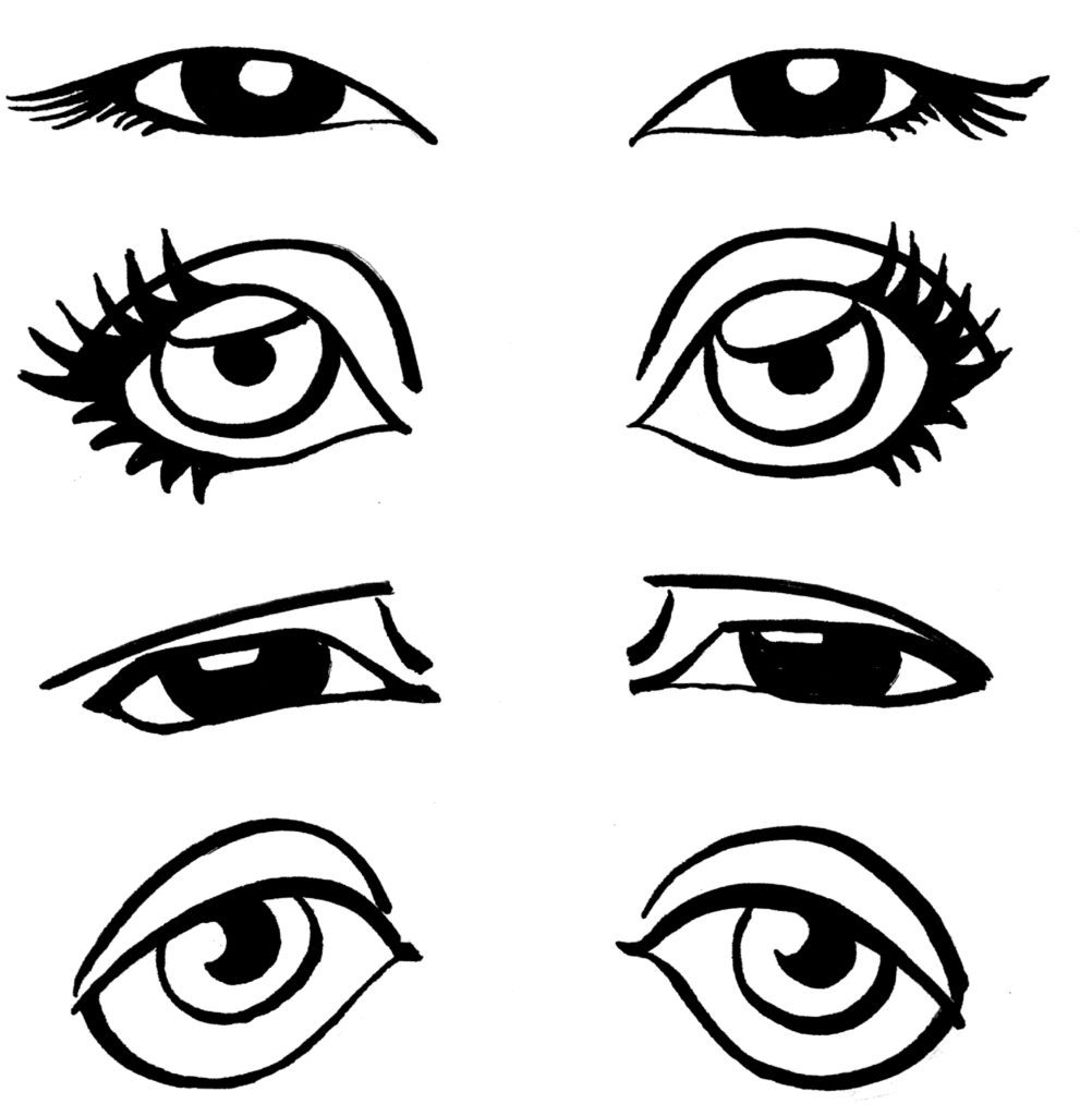 991x1024 How To Draw Eyes Cartoon Howsto.co