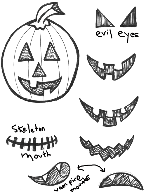 500x659 How To Draw Jack O'Lanterns And Pumpkins With Easy Step By Step