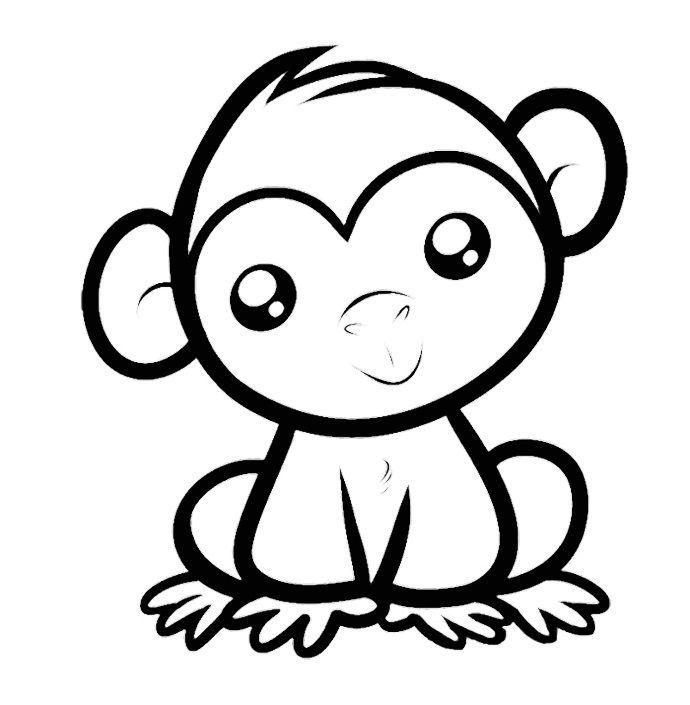 690x705 Spider Monkey Clipart Easy Draw