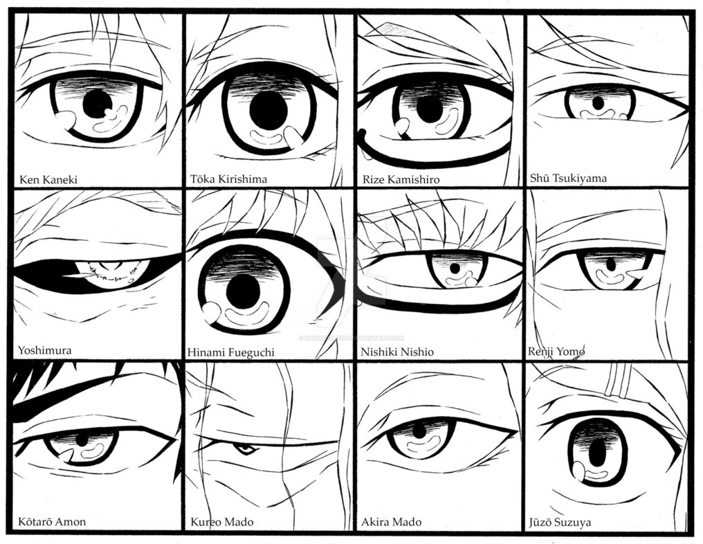 1016x786 Tokyo Ghoul Eyes by Randazzle100 on DeviantArt