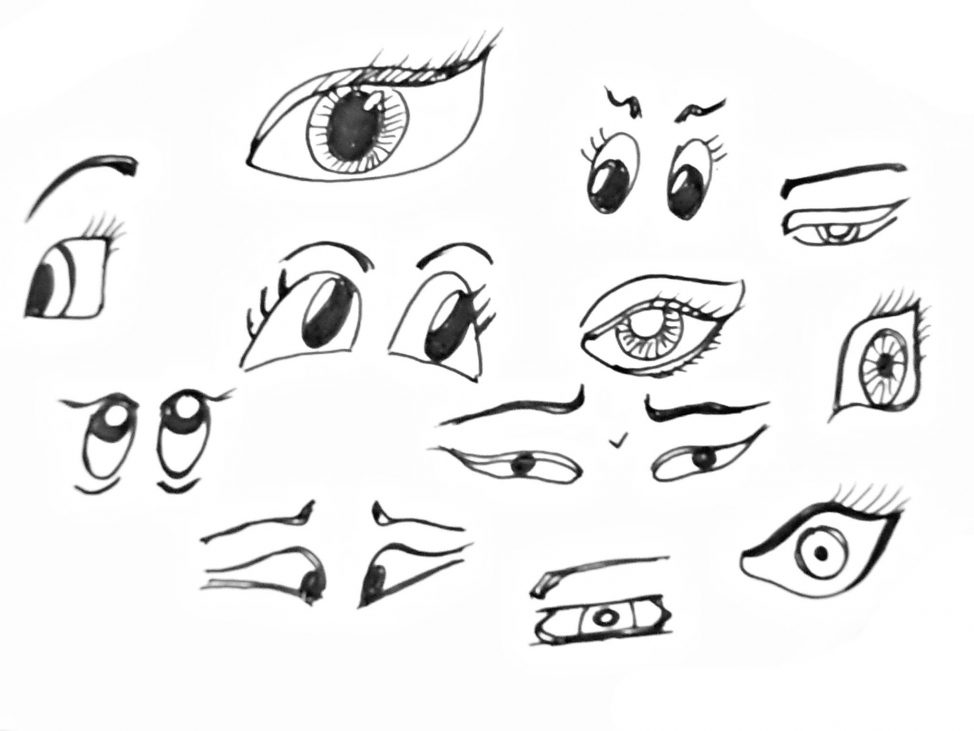 974x731 Coloring Pages Drawing Eyes For Kids Drawing Eyes For Cartoons
