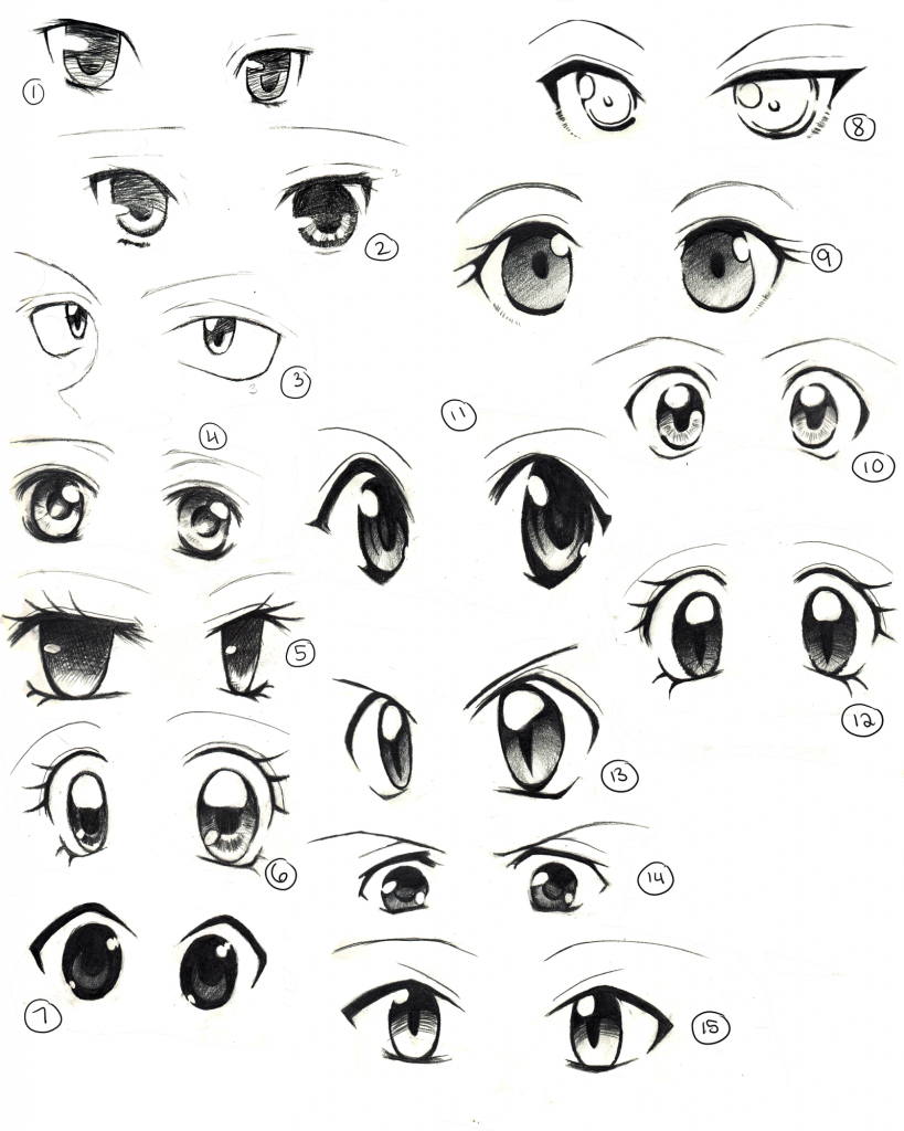 819x1024 Anime Eyes Drawing