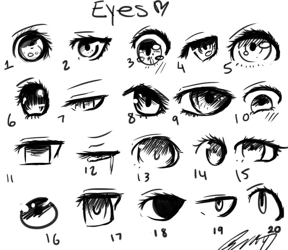 958x833 Different Style Eyes. By Retardedemo