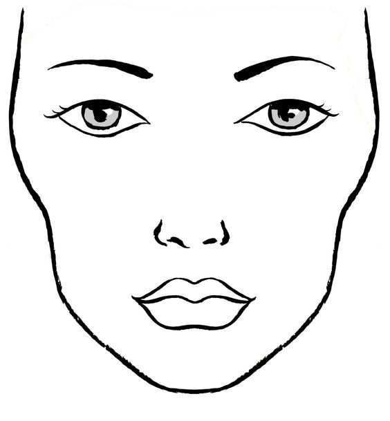 564x609 Blanco Facecharts, To Create Makeup Looks On Paper. Great