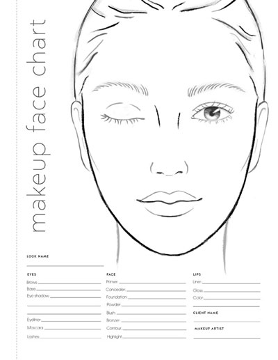 photograph relating to Printable Mac Face Charts referred to as Blank Make-up Experience Chart Saubhaya Make-up