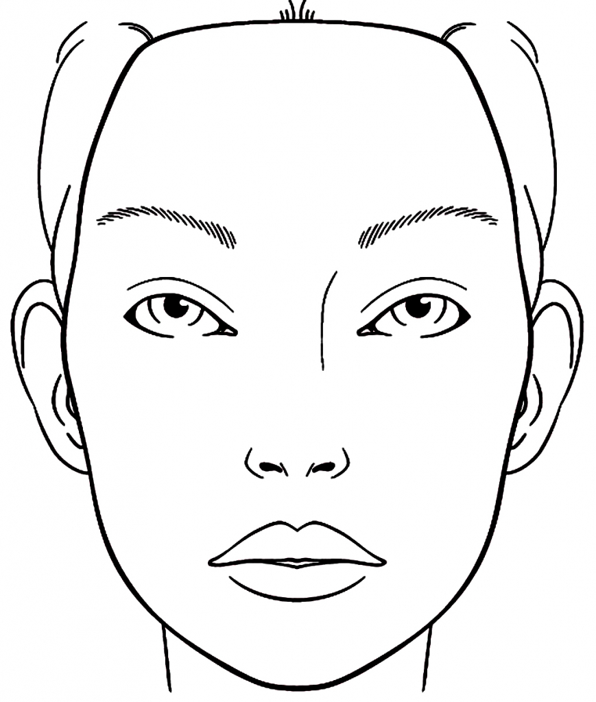 869x1024 Make Up Face Drawing Best Makeup Drawing Ideas