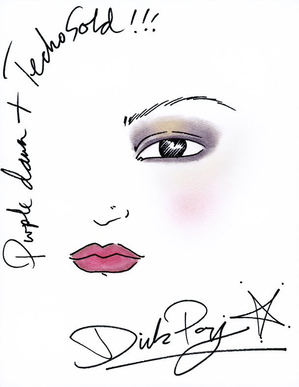 609x788 Shiseido Look Purple Dawn Und Techno Gold By Dick Page Be My