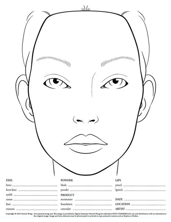 564x730 Makeup Templates Face Blank Makeup Face Chart Photo Macfacechart