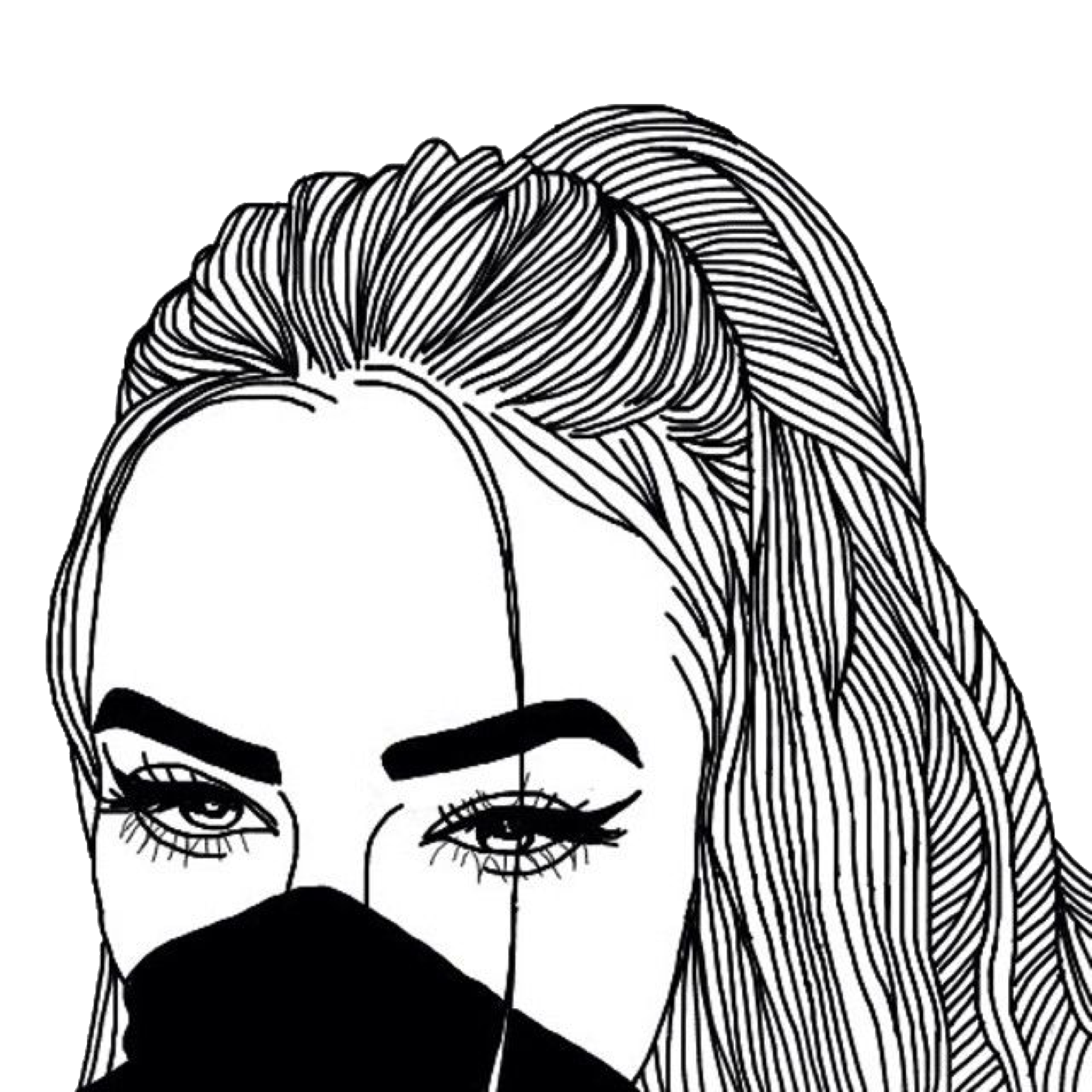 2048x2048 Sleve Hair Outline Eyes Drawing Google Tumblr Drawingno