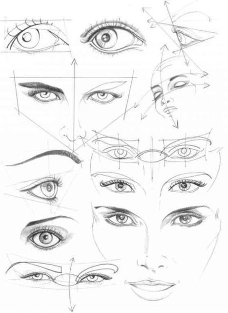 Eyes Tutorial Drawing