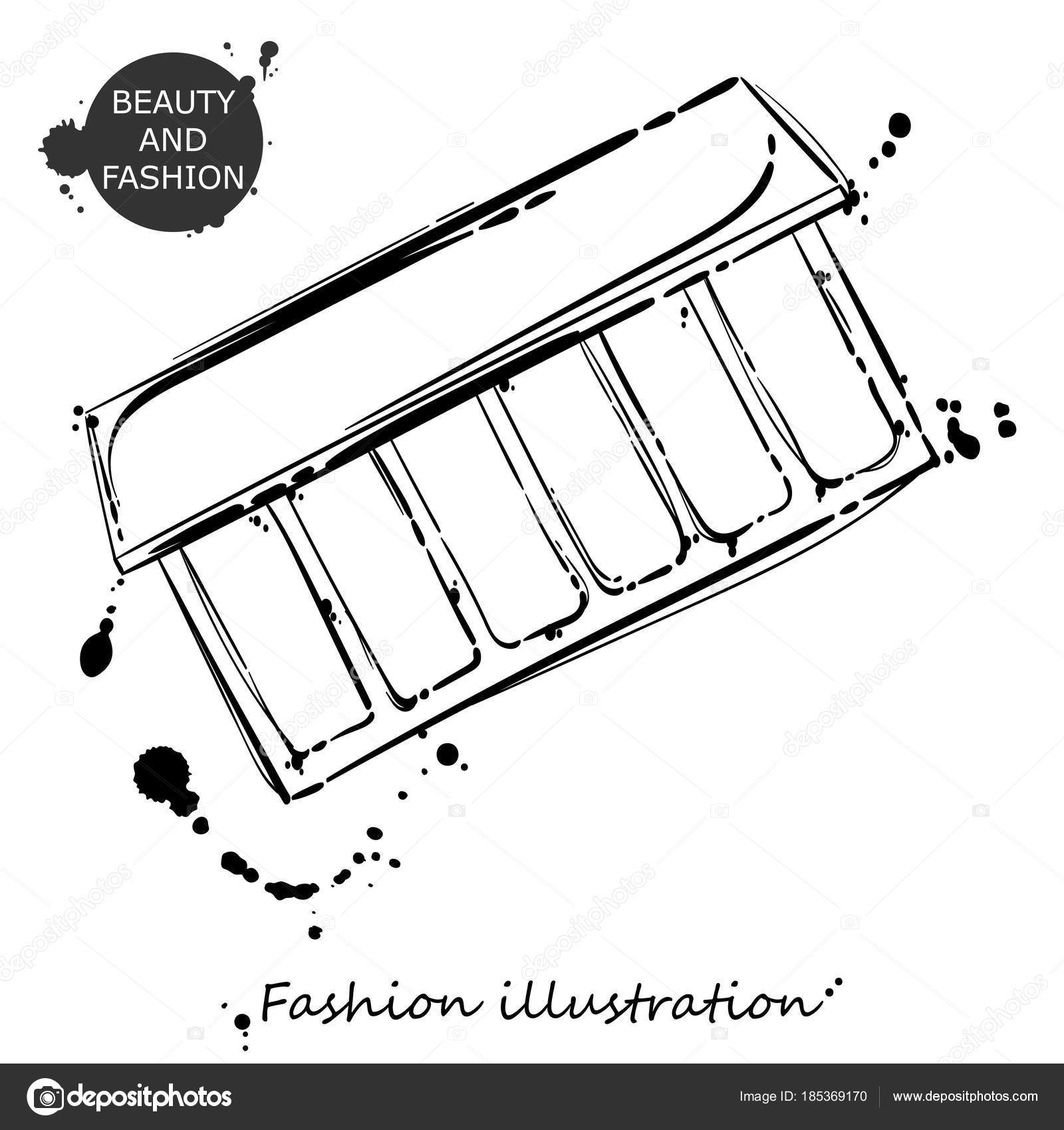 1600x1700 Vector Abstract Illustration With Eyeshadow. Stock Vector