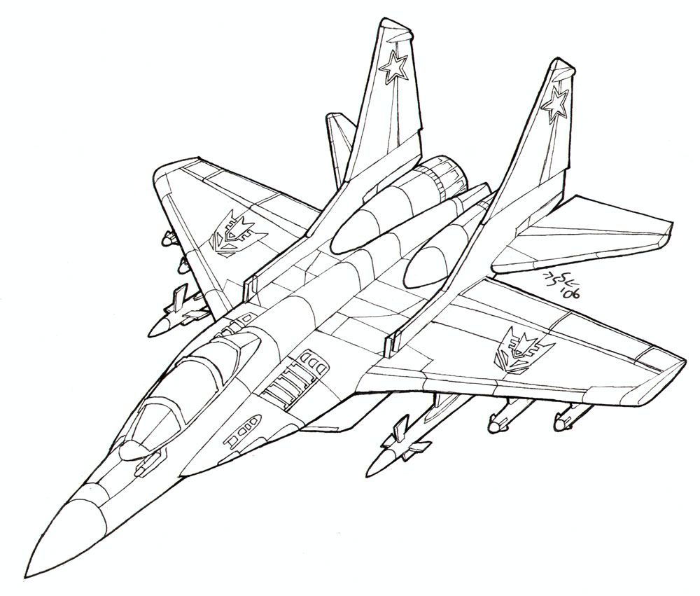 1000x851 Coloring Book Mig 29 Fulcrum By Heatherbeast