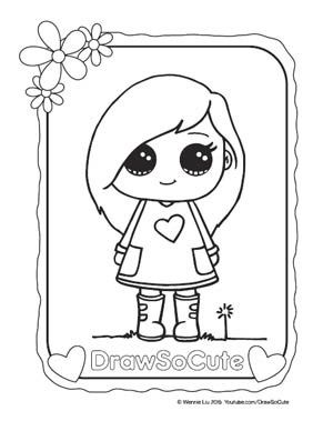 300x388 Hi Draw So Cute Fans, Get Your Free Coloring Pages Of My Draw So
