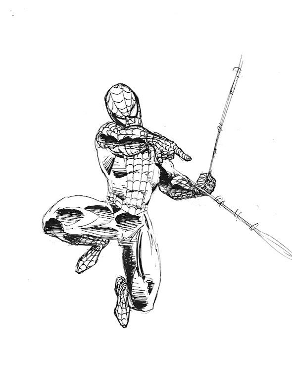 590x748 How To Draw Spider Man Drawing Superheroes 2 Lines