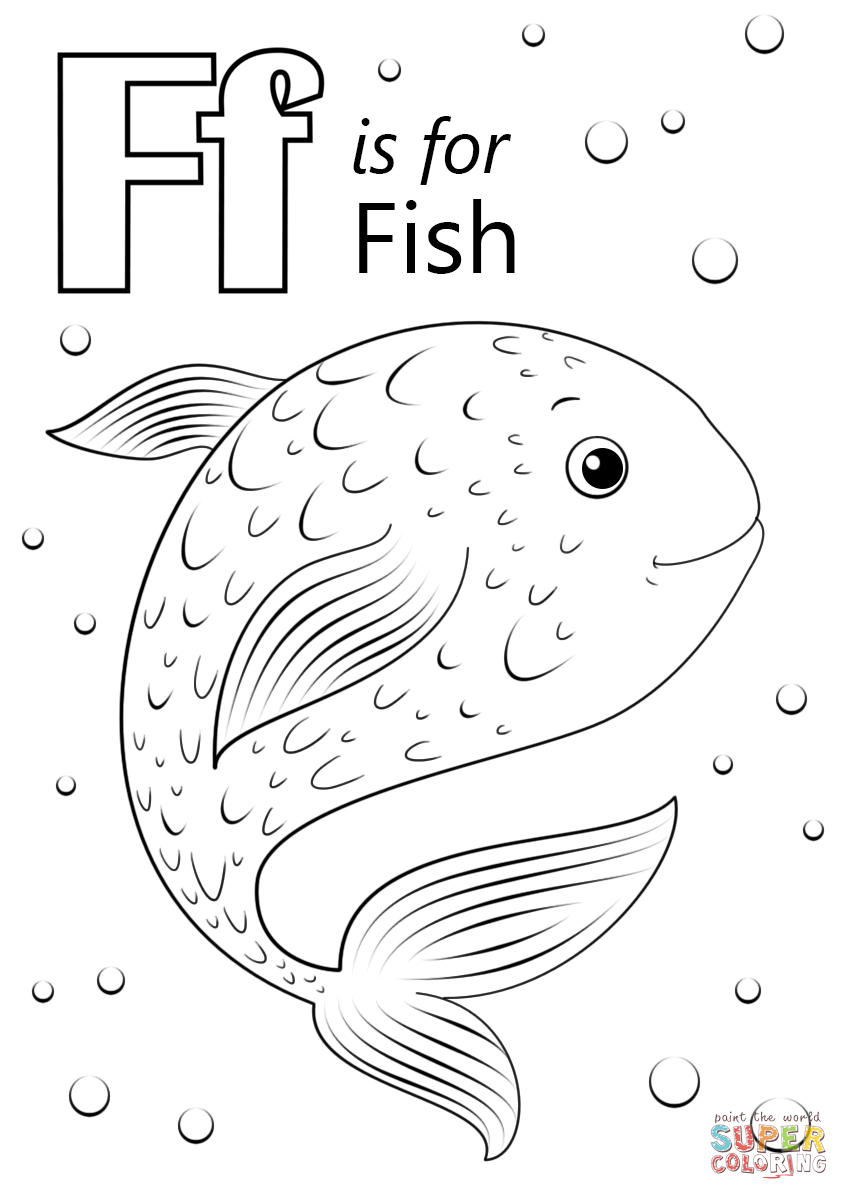 849x1200 Letter F Is For Fish Coloring Page Free Printable Pages