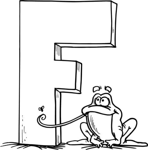 474x480 Letter F Is For Frog Coloring Page Free Printable Coloring Pages