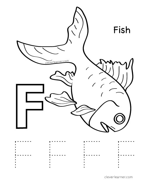500x647 Letter F Writing And Coloring Sheet