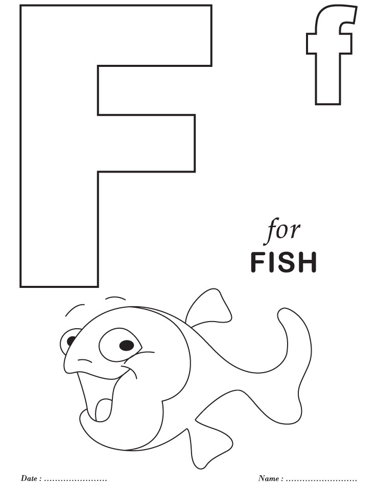 738x954 Printable Alphabet Letter F Coloring Page