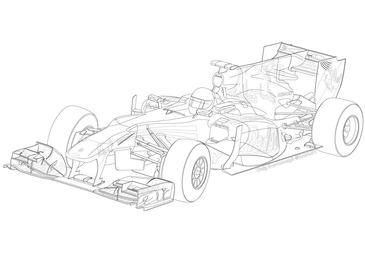 F1 Car Drawing at GetDrawings   Free download