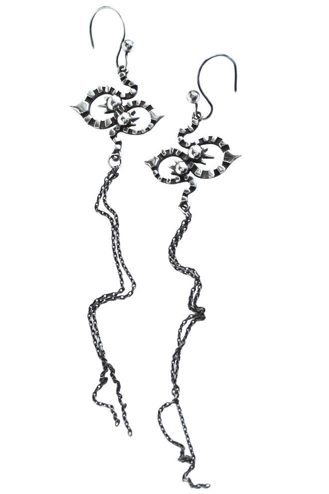 660x990 Long Kaleido Earrings In Silver From Annika Burman