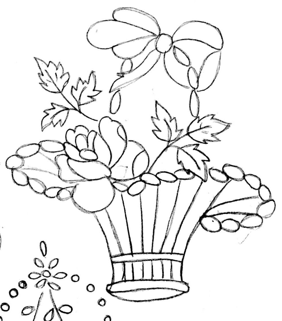 987x1125 Flower Pot Sketch Pic With Flower Best Flowerpot Designs