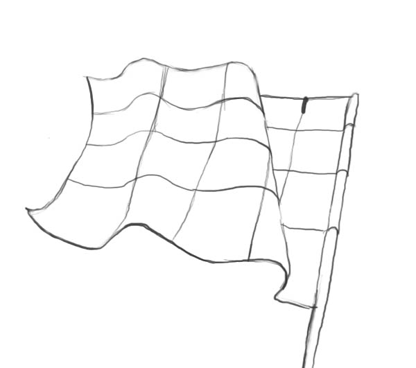 600x531 How To Draw A Flag