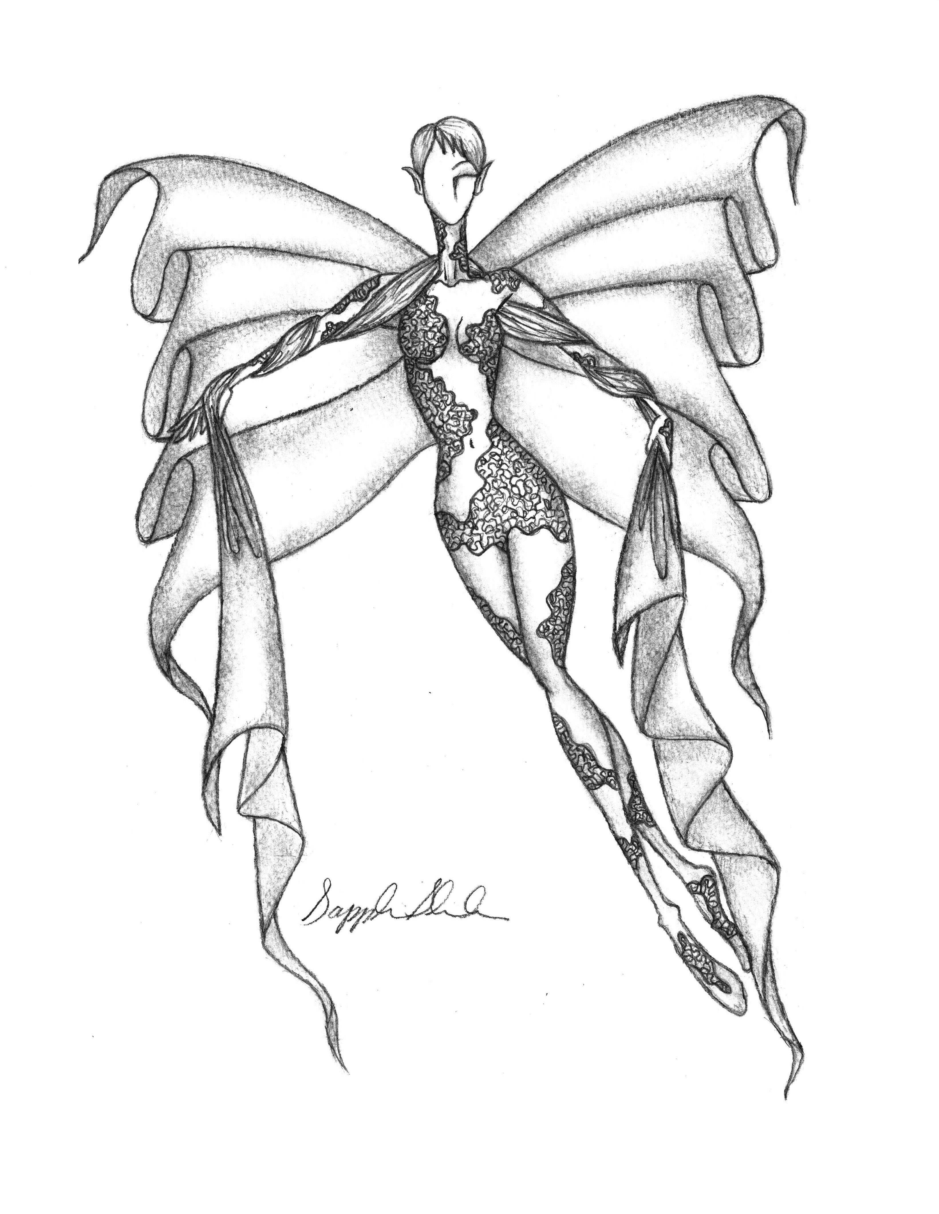 3280x4240 My Illustration Of A Fabric Fairy Created From My Own